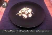 Turn off and let sit for half an hour before serving.